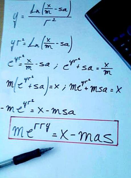Ostatnie przed świąteczne zadanie na lekcji matematyki